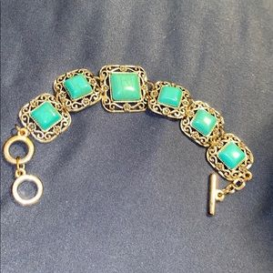 Jewelry - Genuine turquoise and silver Bracelet